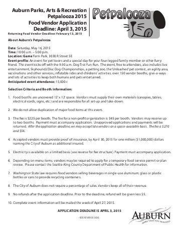 Vendor Application Form. (You Can Print Off The Application From ...