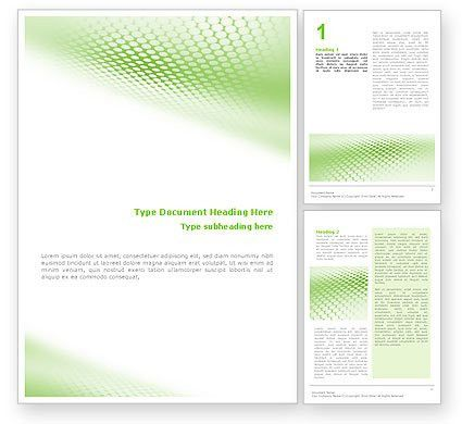 Green Grid Word Template 01585 | PoweredTemplate.com