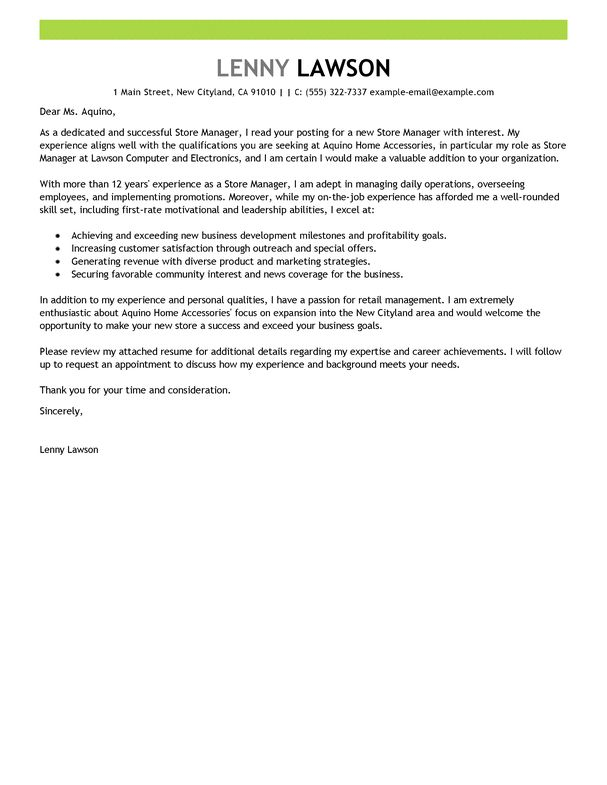 Good Sample Cover Letter For Executive Director 49 For Your ...