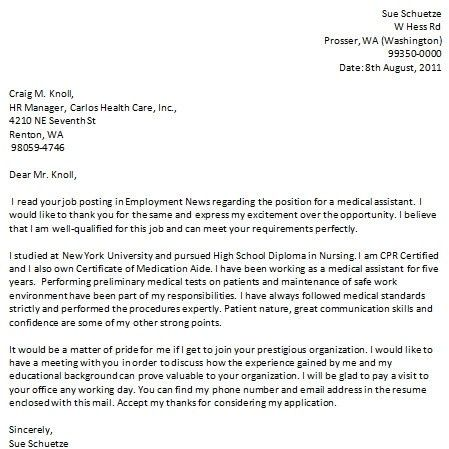 100+ Cover Letter Sample For Healthcare Job | Medical Office ...