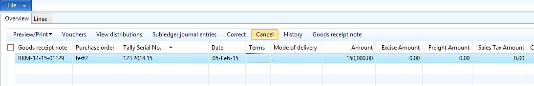 How to cancel Product Receipt / Goods Receipt Note in AX 2012 ...