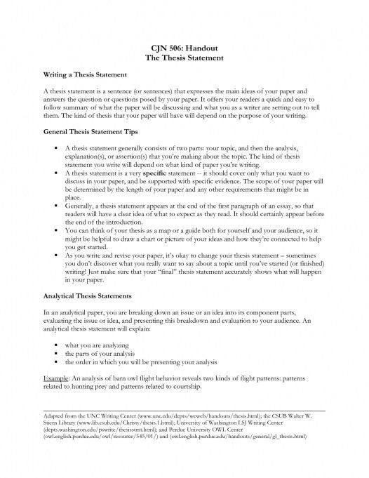 example thesis statement essay into the wild essay thesis personal ...