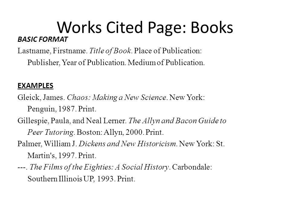 Work Cited Page Examples | World of Examples