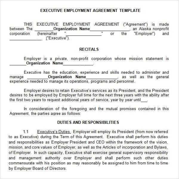 Executive Agreement - 9+ Download Free Documents in PDF, Word