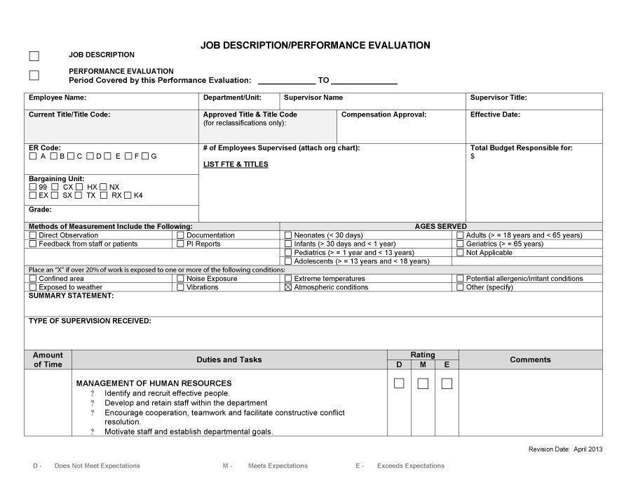 47 Job Description Templates & Examples - Template Lab