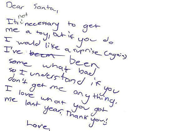 Top 5 Funny Letters To Santa!