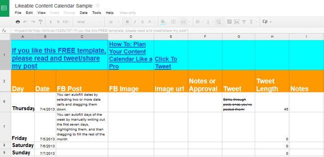 Social Media Calendar Template | HiSocial