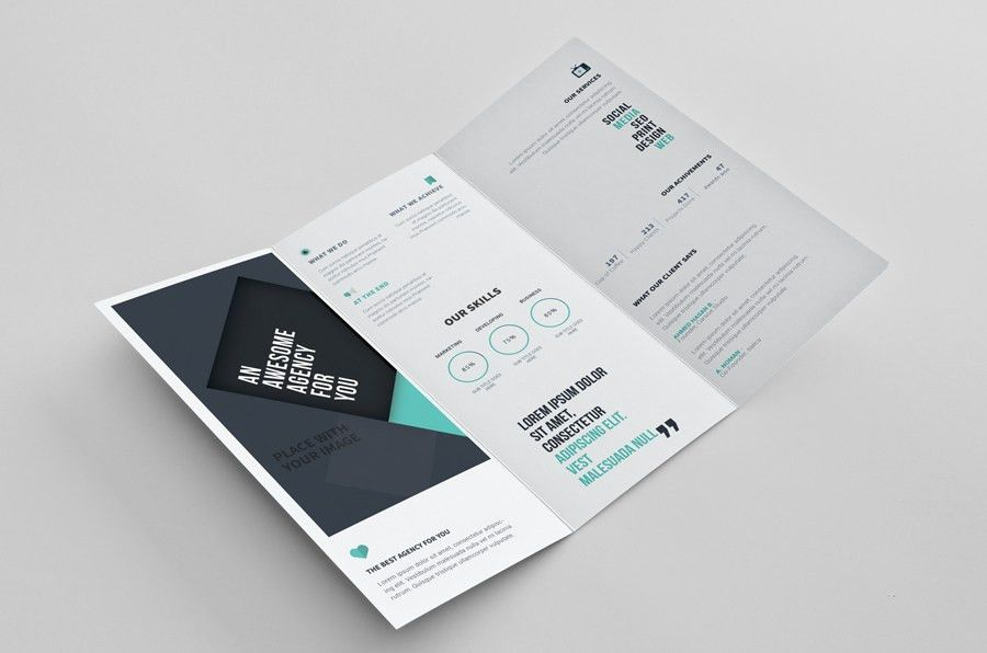 Tri-Fold Brochure PSD Template - Free Design Resources