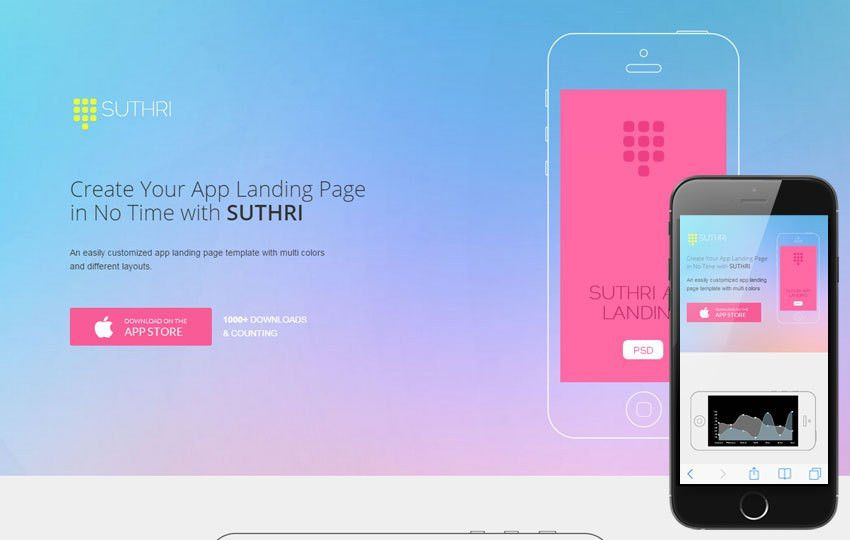 Suthri a Mobile App based Flat Bootstrap Responsive Web Template ...