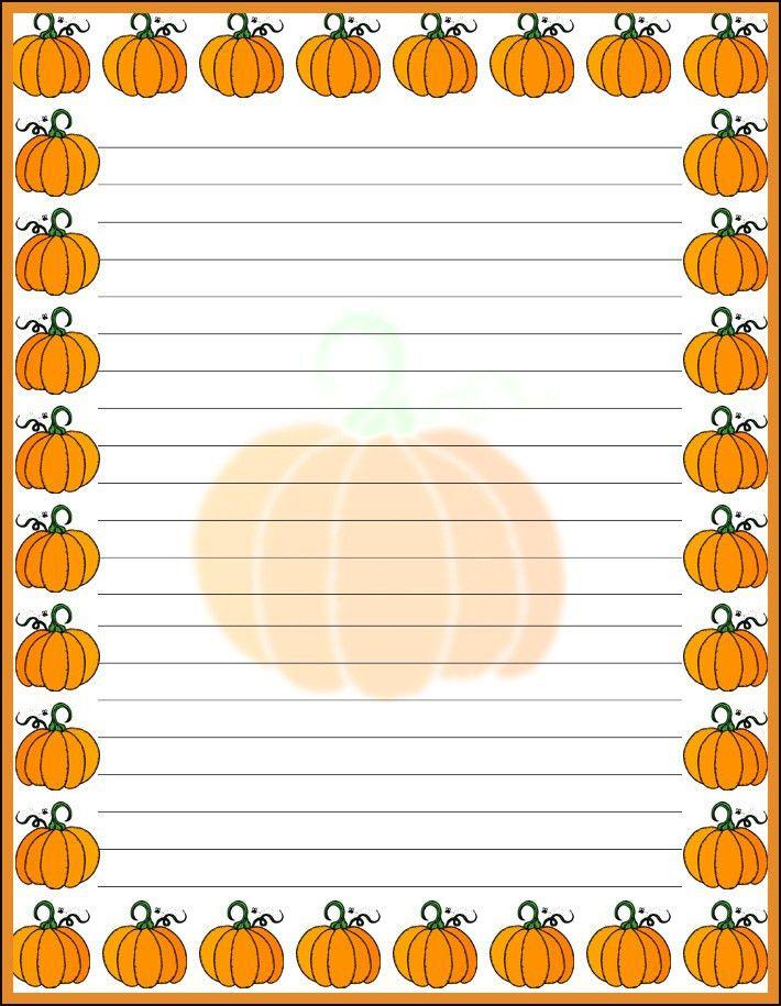 pumpkin handwriting paper | vintage pumpkin background Halloween ...