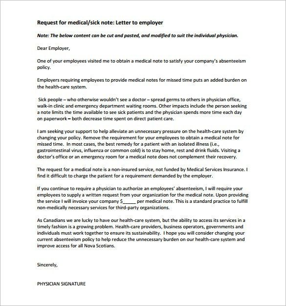 Doctor Note Templates for Work – 8+ Free Sample, Example, Format ...