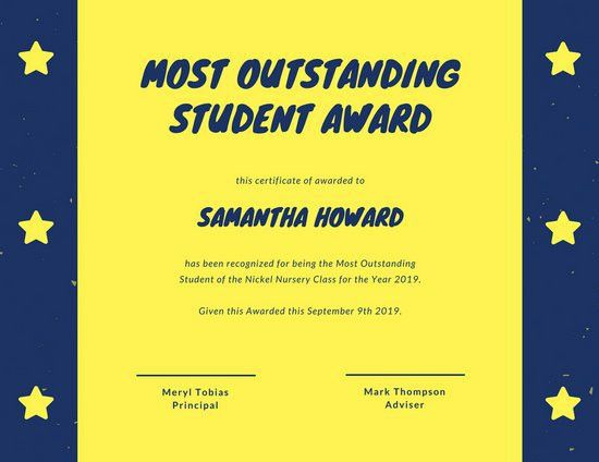 Student Certificate Templates - Canva