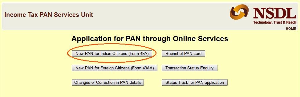 PAN Card Application - How to apply for PAN Online In India - RupeeFox