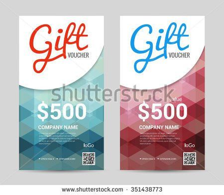 Gift Voucher Vertical Template Colorful Modern Stock Vector ...