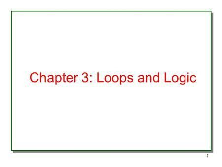 Chapter 9 Control Structures. - ppt download