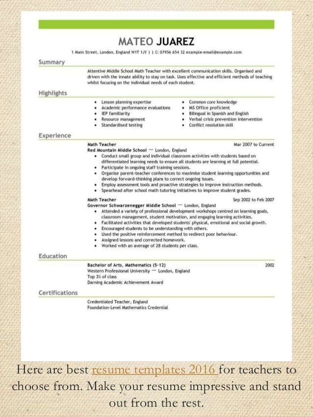 resume formats that stand out resume templates that stand out