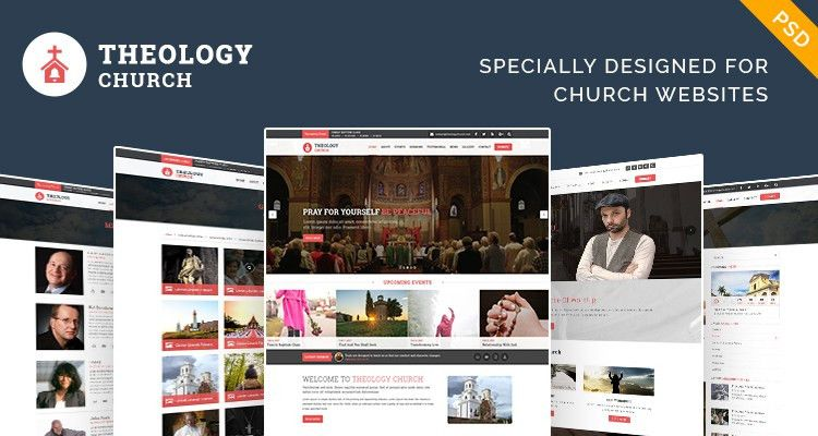 Free church PSD template to build stand out site - Freelancer Coder