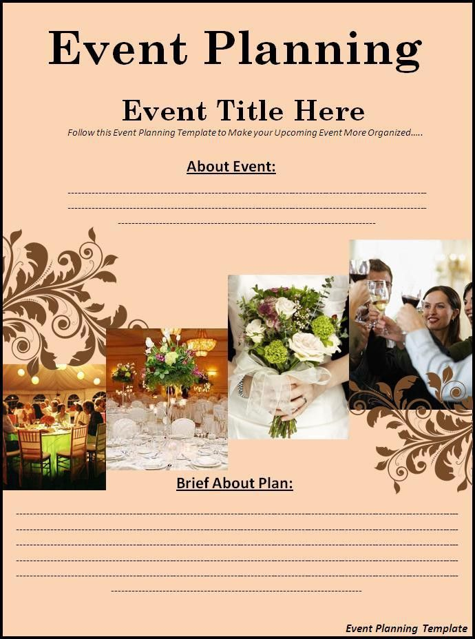 Event Planning Template Download Page | Word Excel PDF