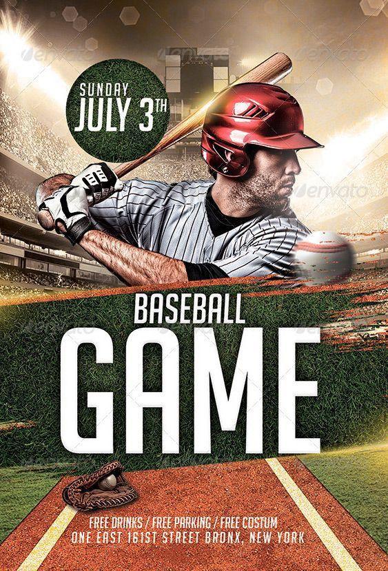 Baseball League Flyer Template - http://www.ffflyer.com/baseball ...