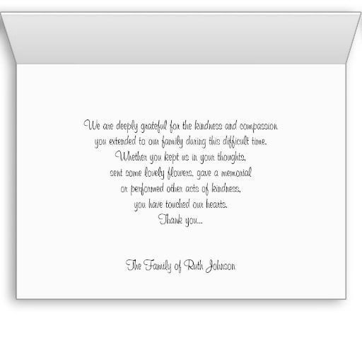 Best 25+ Sympathy thank you notes ideas on Pinterest | Funeral ...
