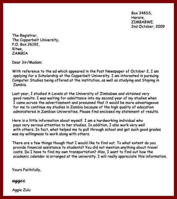 16 Sample Application Letter for Nursing School admission ...