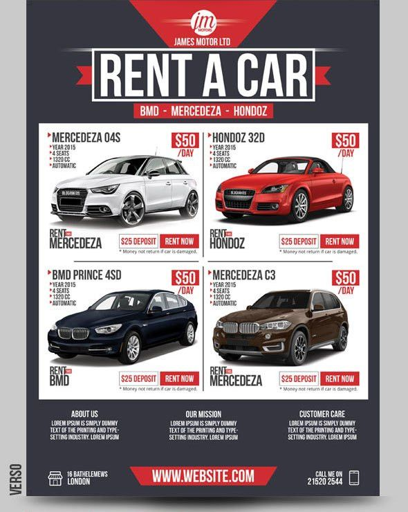 Rent A Car Flyer - Give Value to your Car Rental Business