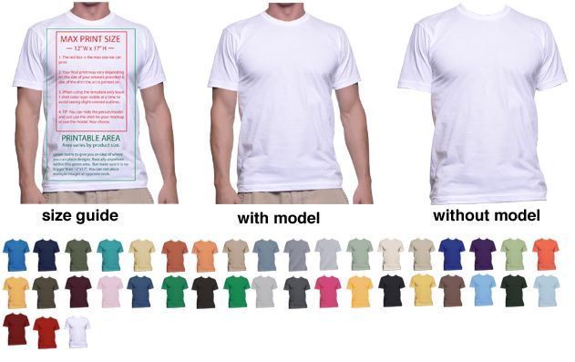 T-Shirt Mockup Templates to Help Display T-Shirt Designs | Print ...