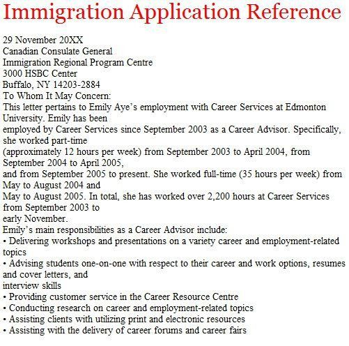 Reference Letter For Immigration Writing Steps. Character ...