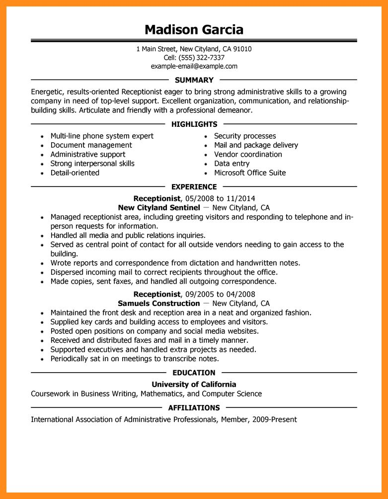 5+ perfect resume example | resume setups