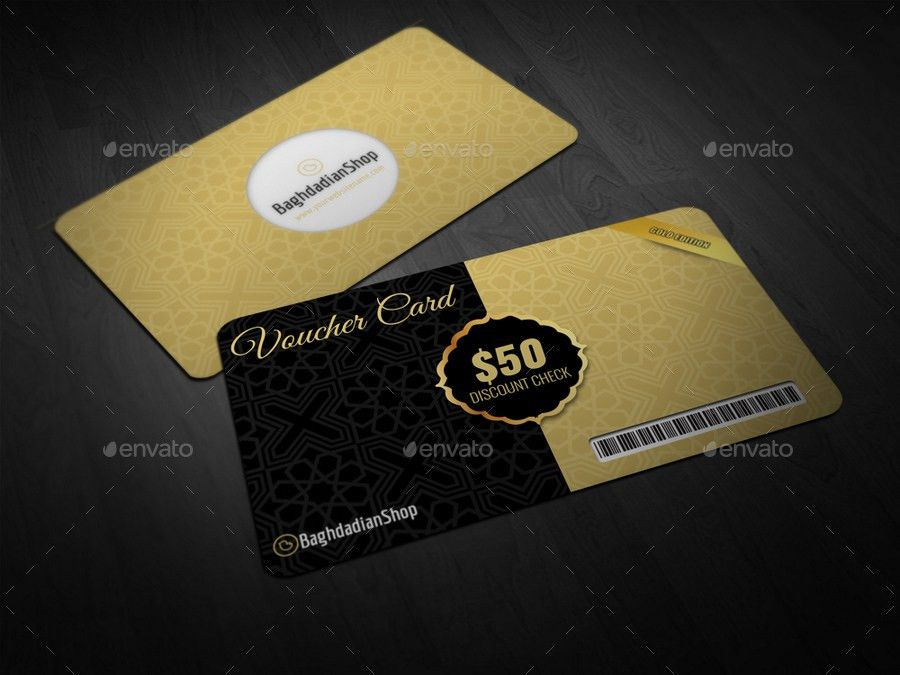 Gift Voucher Card Template Vol 24 by OWPictures   GraphicRiver