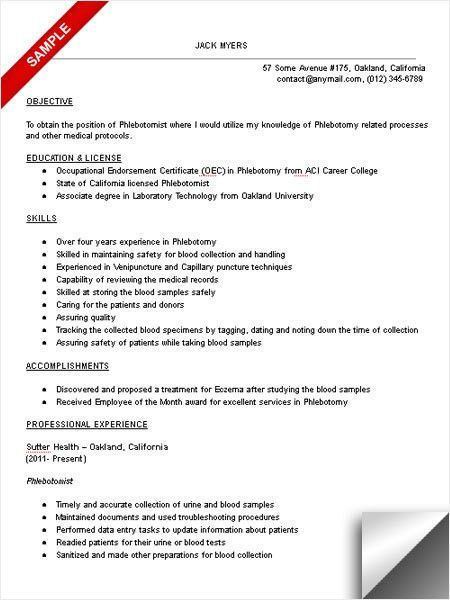 sample phlebotomist resume remittance advice slip template. yours ...