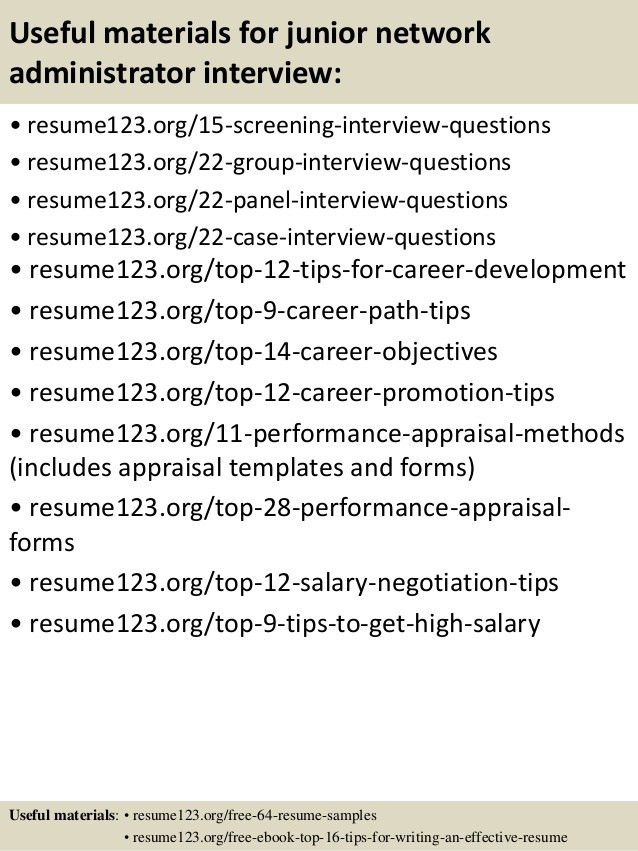 9 best images about best network administrator resume templates ...
