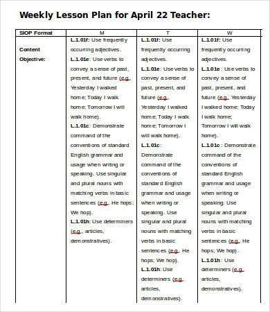 Weekly Lesson Plan Template - 9+ Free Word, PDF Documents Download ...