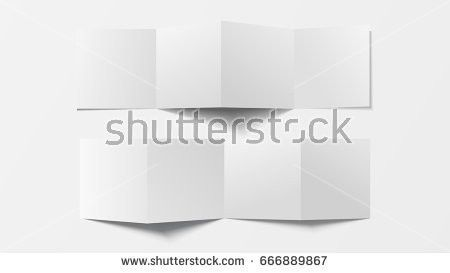 Mock 3d Leaflet Blank Top View Stock Vector 666889867 - Shutterstock