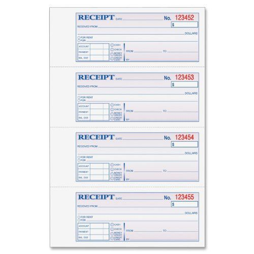 Adams Tc1182 Tape Bound Money/rent Receipt Book - 100 Sheet[s ...