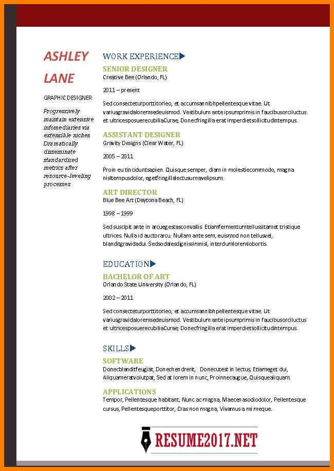10+ 2017 resume examples | latest cv format