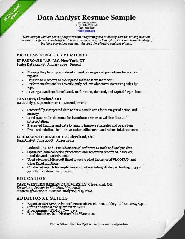 Data Analyst Resume Sample | Resume Genius