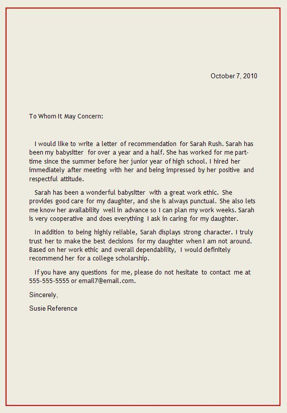 Best 25+ Reference letter ideas on Pinterest | Professional ...