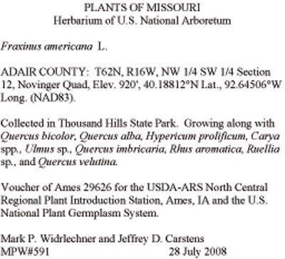Herbarium Vouchers : USDA ARS