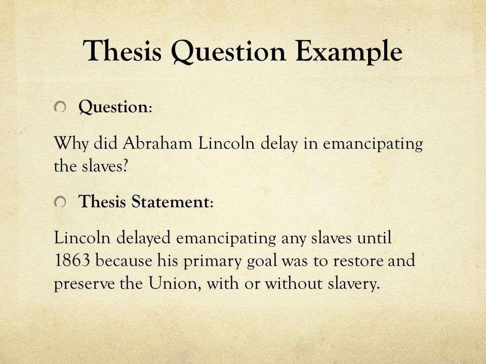Thesis Statement A central idea to which all of the essay's ...