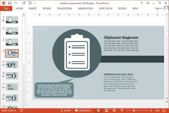 Animated Medical Assessment PowerPoint Template