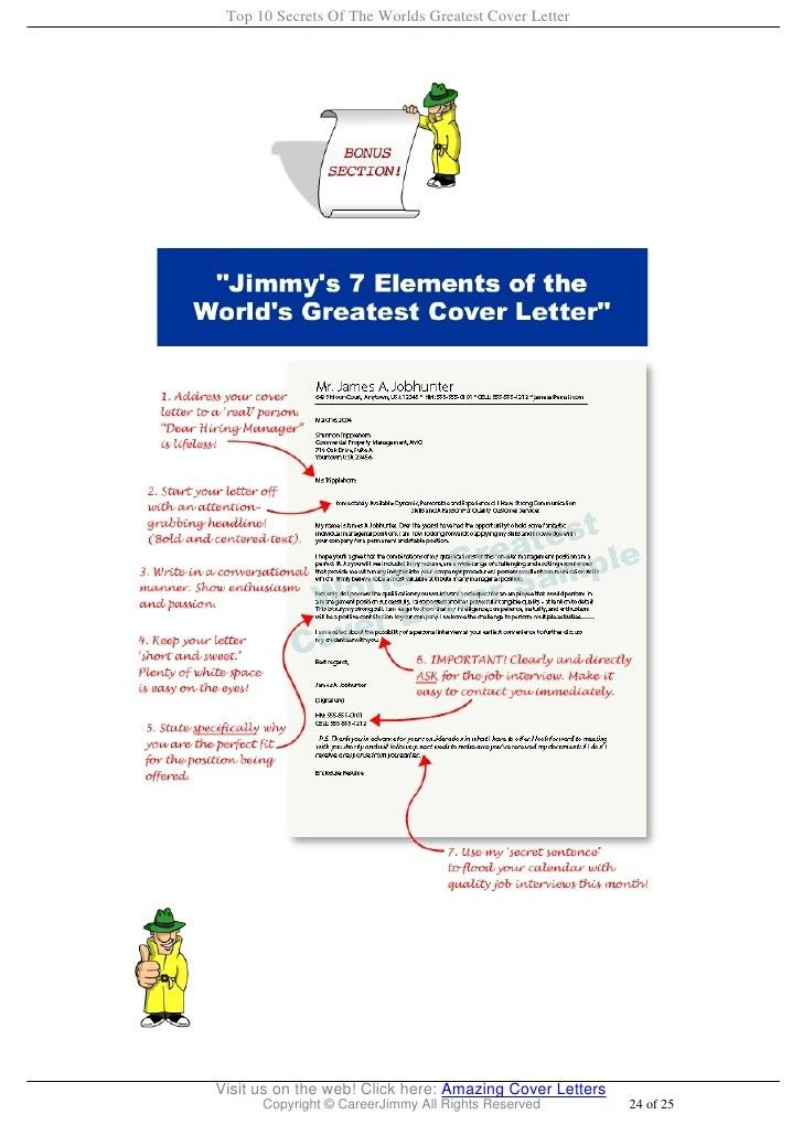Top 10 Secrets Of The Worlds Greatest Cover Letter