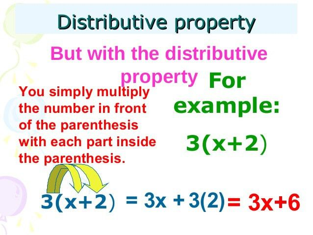Distributive property in algebra power point