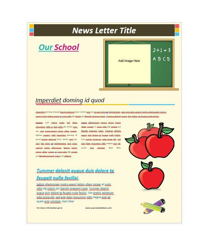 50 Free Newsletter Templates for Work, School and Classroom – Free ...