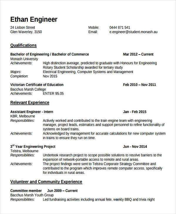 Fresher Lecturer Resume Templates - 5+ Free Word, PDF Format ...