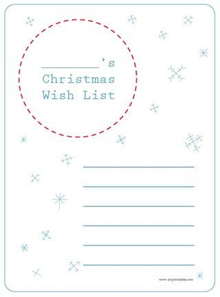 Christmas Gift Wish Lists for Kids {Free Printable} | Christmas ...