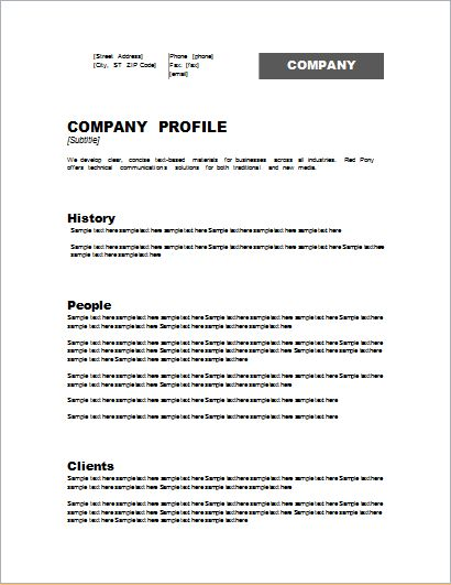 Customizable Company Profile Template for WORD | Document Hub