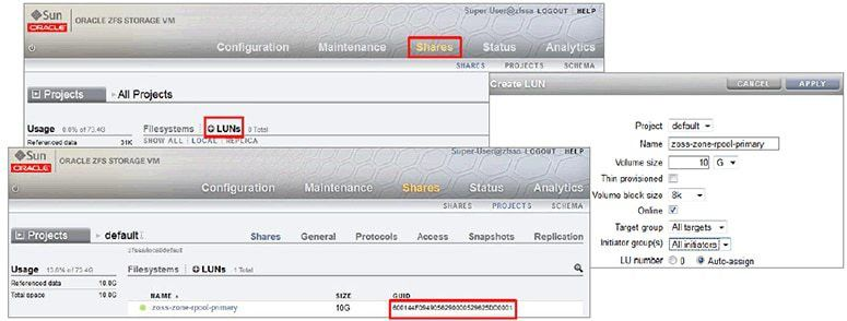 How to Consolidate Zones Storage on an Oracle ZFS Storage Appliance