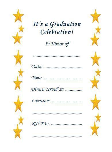Free Printable Graduation Invitation Templates | christmanista.com