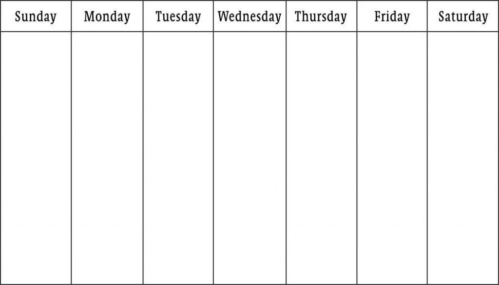 Two Week Calendar Template Return To Weekly Plan Professional ...